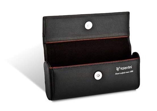 Etui na okulary Valentini Black & Red Diamond 287 czarnr