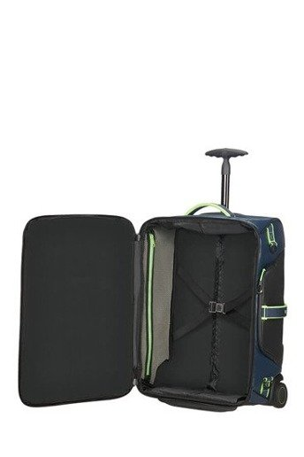 Torba z funkcja plecaka na kółkach Samsonite Paradiver Light 55 cm Night Blue/Fluo Green